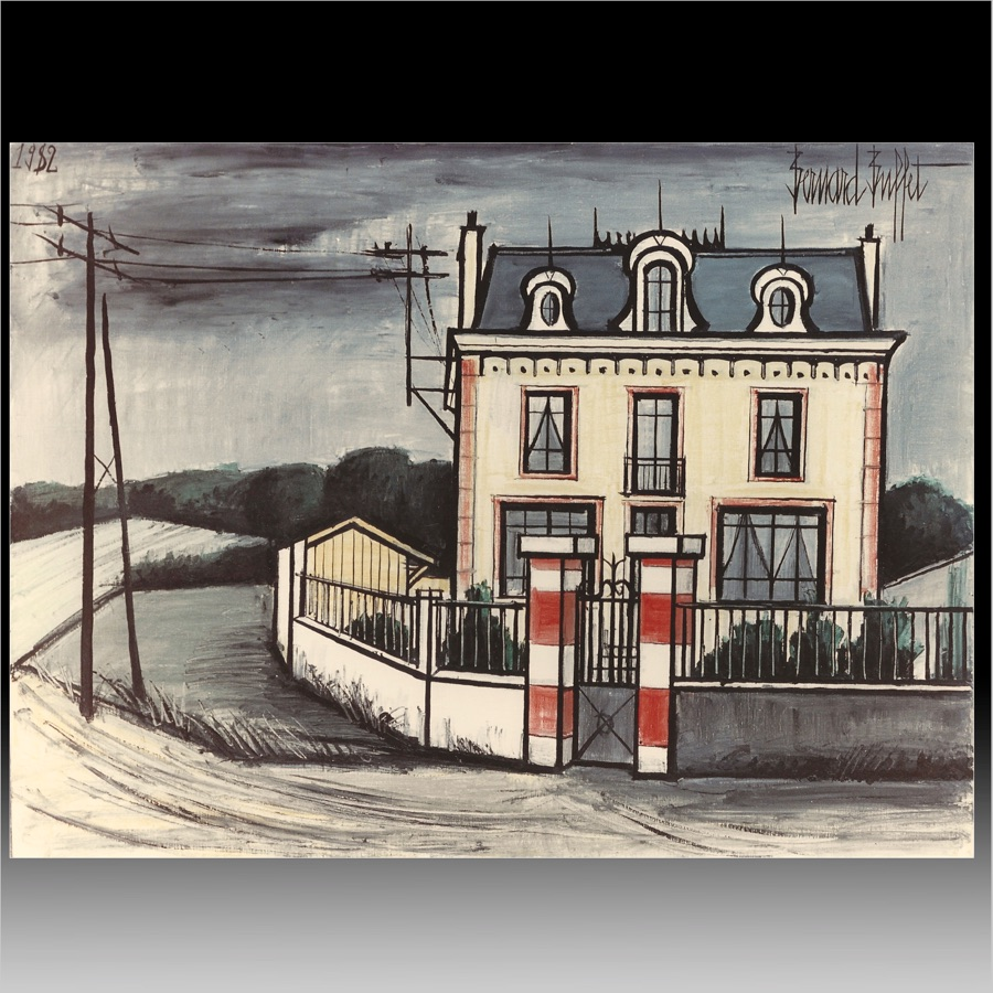maison dans la campagne by bernard buffet the art collection. Black Bedroom Furniture Sets. Home Design Ideas
