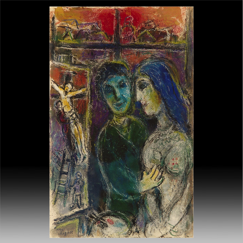 """""""Le peintre et la crucifixion"""" by Marc Chagall ... Marc Chagall Crucifixion"""